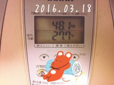 本日の体重